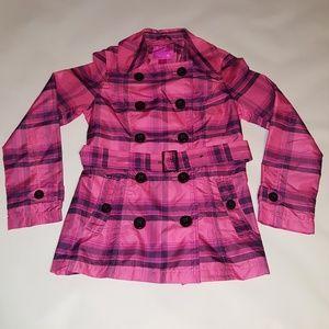 Women's Pink Envelope Trench Coat